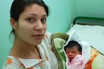 Prvním miminkem roku 2010 v okrese Louny je Jessica Tokárová.