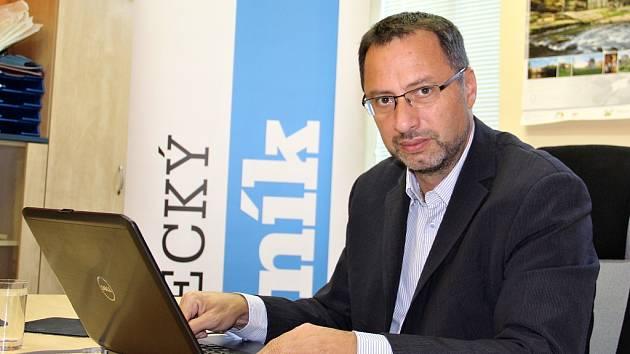 Michal Kučera, lídr TOP 09 v nadcházejících krajských volbách, při on-line rozhovoru s čtenáři Deníku