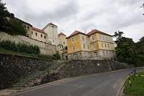 Hradby v Žatci na archivním snímku