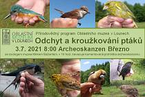 V sobotu se uskuteční ukázka odchytu a kroužkování ptáků u archeoskanzenu v Březnu u Loun.
