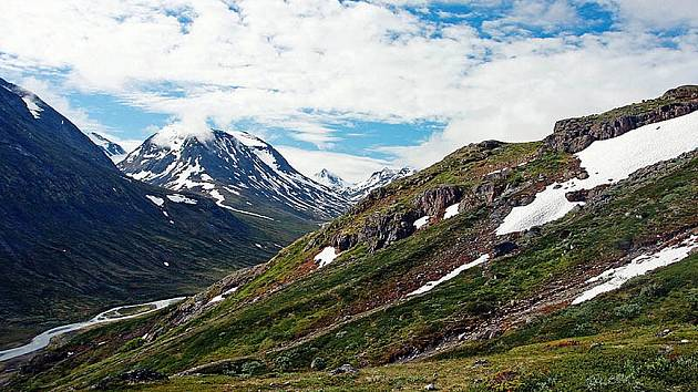 Horská oblast Jotunheimen v Norsku, česky Domov obrů