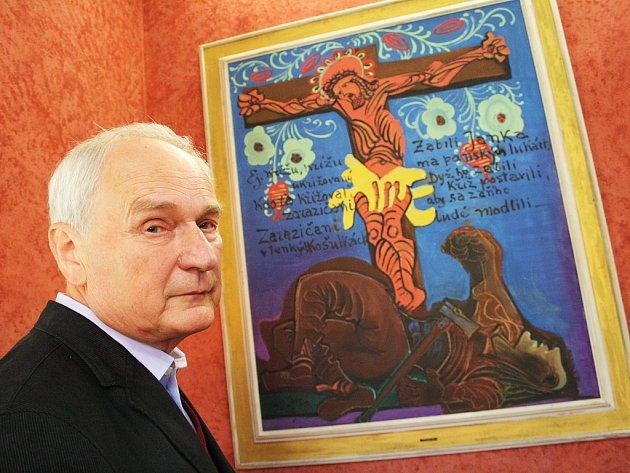 Znovuotevření expozice si nenachal ujít ani synovec malíře Jindřich Krejčí
