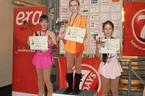 První místo Adélka Pidrmanová, druhá Terezka Frélichová a třetí Kája Pýchová