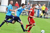 Utkání Postoloprt (v červeném) proti týmu Modré