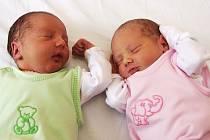 Barboře a Pavlovi Stehlíkovým ze Žatce se v kadaňské porodnici narodila dvojčátka. Synek Matyáš přišel na svět v 17.18 hodin s váhou 2,89 kg a mírou 48 cm. Dcerka Markéta se narodila v 17.22 hodin, vážila 2,65 kg a měřila 48 cm.