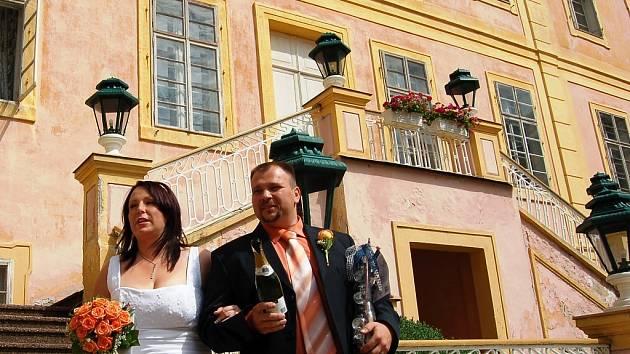Pár přímo z Krásného Dvora, Jiří Černý a Lucie Vaňourková, na snímku už Černá.