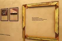 Vernisáž výstavy obrazů Emila Filly v Galerii Benedikta Rejta v Lounech.