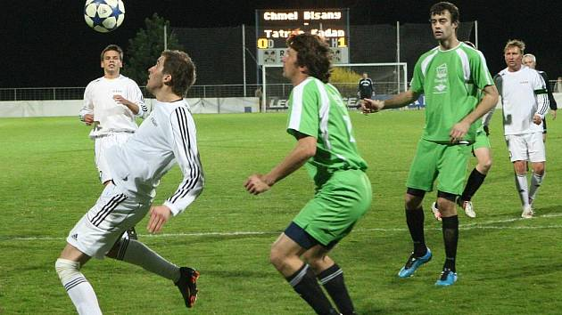 Fotbalové utkání Blšan (v bílém) proti Kadani
