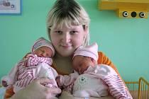 Lucii Markové z Loun se 15. 5.  v ústecké porodnici narodila v 8:42 dcera Amálie, měřila 46 cm, vážila 2,45 kg. O dvě minuty později přišla na svět její sestřička Natálie, měřila 48 cm a vážila 2,63 kg.