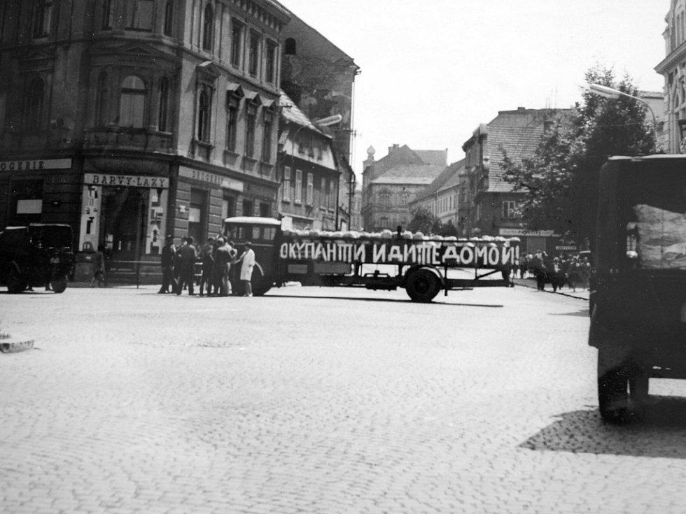 Začátek okupace, srpen 1968 v Žatci.