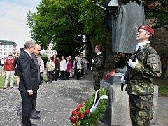 Setkání při příležitosti 70. výročí osvobození na Suzdalském náměstí v Lounech