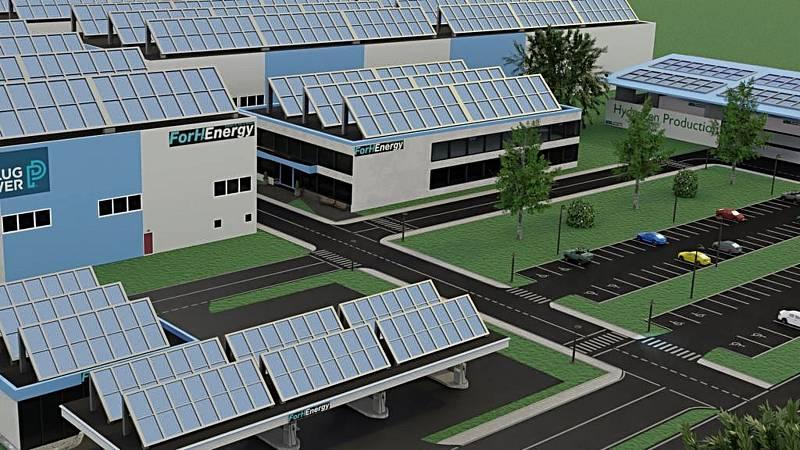Společnost For H2Energy chce u Žatce vyrábět vodík z vody a elektrické energie. Tu chce primárně získávat ze slunce, na střeše továrny proto plánuje fotovoltaické články.