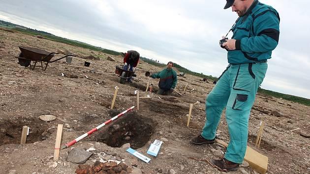 Lokalita u Břežan na Žatecku, kde nyní pracují archeologové