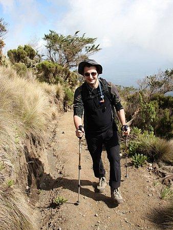 Lubomír Peterka při výstupu na vrchol Mount Meru