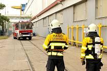 Cvičení hasičů v Elektrárně Počerady