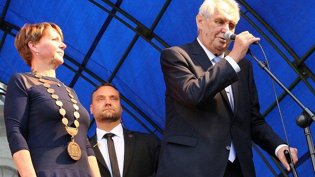 Prezident Miloš Zeman na návštěvě Žatce