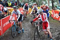 Závod juniorů na mistrovství světa v cyklokrosu v belgickém Zolderu.