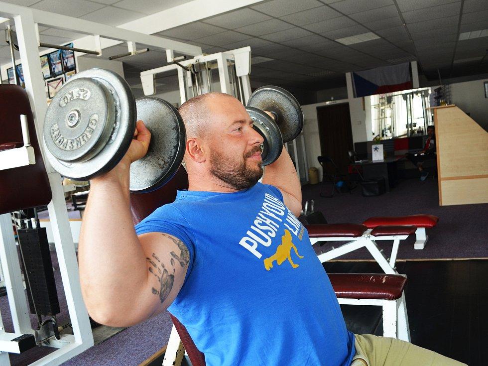 Jaromír Šruc ve své žatecké posilovně Fitness Halk.