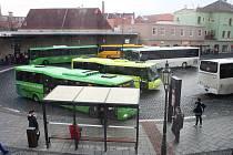Autobusové nádraží v Žatci.