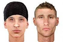 Policie pátrá po totožnosti dvou mužů. Zveřejnila jejich identikity