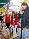 Několik specializovaných stánků nabízelo víno, sýry a další lahůdky. A také levanduli a výrobky z ní