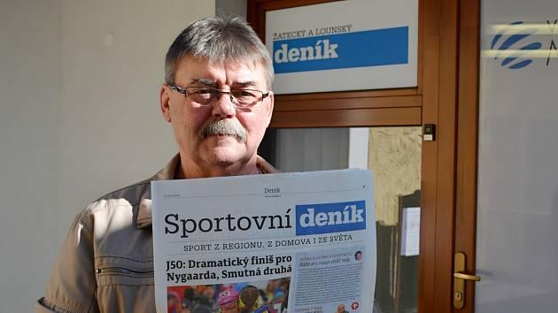Jaroslav Davídek z Hřivic vyhrál vstupenky na duel české fotbalové reprezentace s Brazílií v soutěži Deníku.