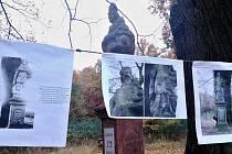 Přivítání opravené sochy svatého Prokopa v roce 2015 na lesní cestě mezi Vroutkem, Nepomyšlí a Buškovicemi poblíž osady Kružín. Socha pochází už z roku 1773, tehdy byla vztyčena jako vzpomínka na obrovskou průtrž mračen s krupobitím.