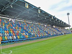 Tribuna na stadionu FK Chmel Blšany