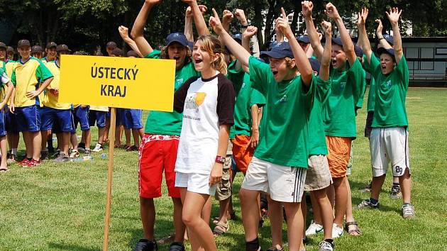 Reprezentanti na Letní dětské olympiádě v Lounech.