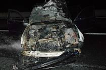 Požár osobního auta u Bitozevsi