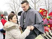 Masopustní veselení ve Vroutku u Podbořan.