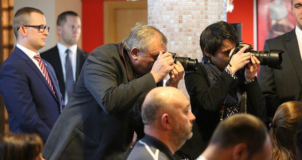 O návštěvu prezidenta v Podbořanech byl velký zájem