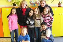 Michaela Dolinová na lipenecké základní škole