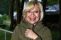 Oblíbená herečka Jana Paulová na archivním snímku