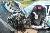 Dopravní nehoda v žatecké Plzeňské ulici