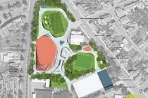 Studie možné budoucí podoby letního cvičiště v Lounech