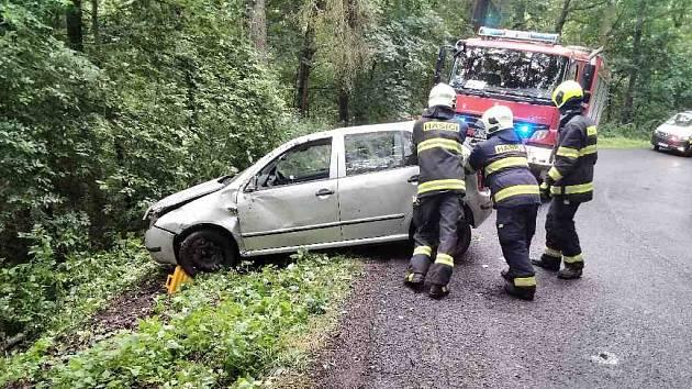 Dopravní nehoda u Peruci.