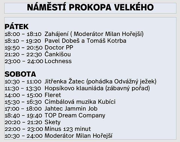 Program na náměstí Prokopa Velkého.