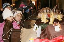 Na výstavu betlémů se přišli podívat i žáci ZŠ Prokopa Holého Louny