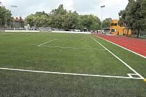 Lehkoatletický stadion Mládí v Žatci. Archivní snímek