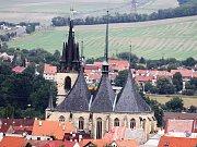 Pohled na chrám sv. Mikuláše v Lounech
