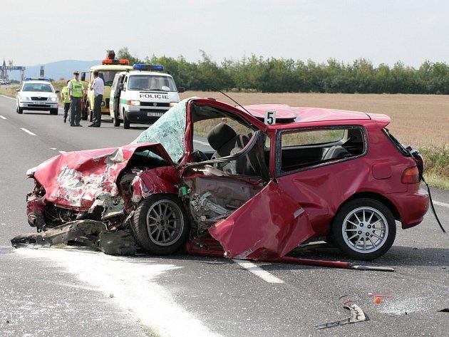 Nehoda u křižovatky smrti v neděli 19. srpna 2007