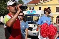 Miroslav Kalina v cíli první etapy v Lounech.