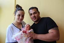 Kristýna Kančiová se narodila mamince Monice Rajtové ze Žatce 7. června v 8.58 hodin. Vážil 3,18 kg.