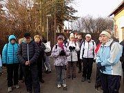 Turisté z Podbořanska na sobotním pochodu ve svém domovském regionu.