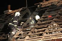 Požár domu v Lišanech