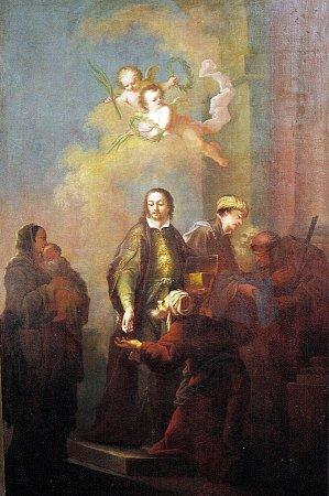 Sv. Jan a Pavel rozdávající almužnu - Ignác Raab, po roce 1760