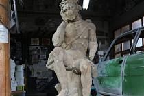 V současné době je socha Ecce Homo z roku 1770 v restaurátorské dílně.
