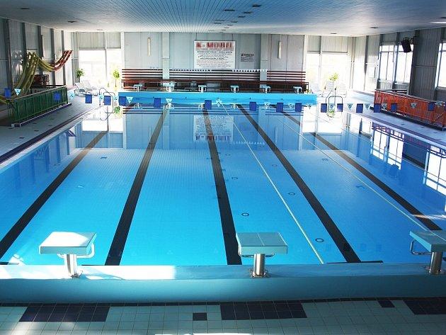 Hlavní bazén plavecké haly vLounech