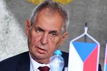 Prezident Miloš Zeman na návštěvě v Lišanech na Žatecku